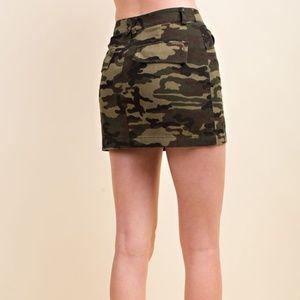 Wild Honey Skirts - Camo Mini Skirt